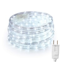 BrizLabs 18ft 216 LED Rope Lights Bright White for Garden Party Decor