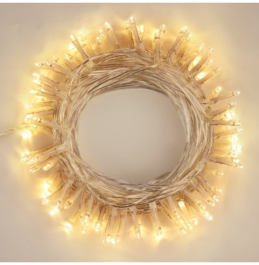 BrizLabs LED String Lights 20M 200 LED Fairy Lights Plug in Christmas Lights Mains Powered 8 Lighting Modes Clear Cable for Indoor Outdoor Tree Halloween Bedroom Garden Wedding Party, Warm White