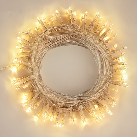 Fairy String Lights LED Mains Clear Cable Wedding Christmas Party DIY White Blue