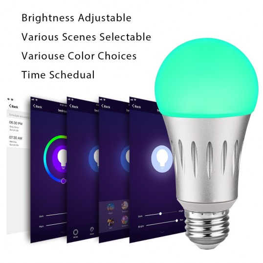 A19 7W Smart Light Bulbs Dimmable Warm White and Color 2