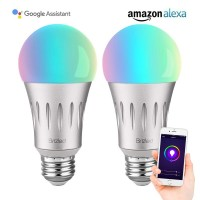 BrizLabs Smart Light Bulbs, A19 60W Equivalent Smart Bulb, Dimmable Warm White and Color Ambience Wifi Light Bulbs, No Hub Required LED Bulbs, Work with Alexa and Google Assistant, E26, 600LM, 2 Pack