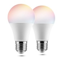 BrizLabs A19 Smart Light Bulbs 9W 2 Pack Compatible with Alexa Google Home IFTTT