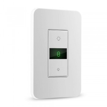 BrizLabs Wi-Fi Smart Dimmer Switch with Remote & Timer Works with Alexa Google